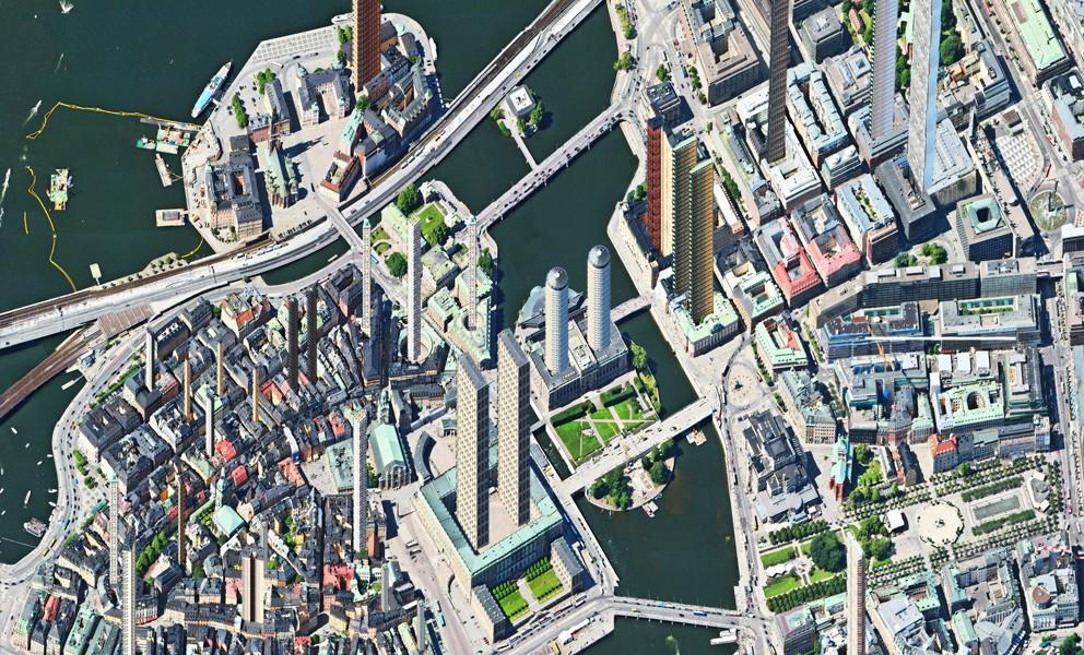 Aerial view – Gamla stan