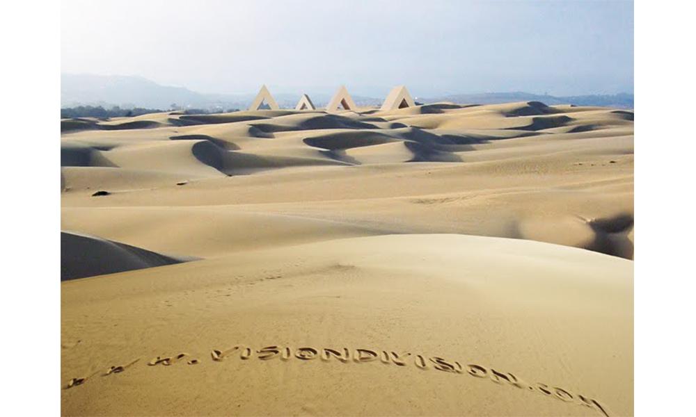 As a desert village