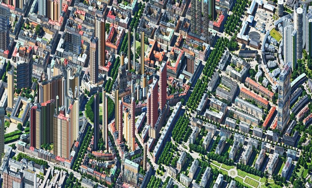 Aerial view – Karlaplan