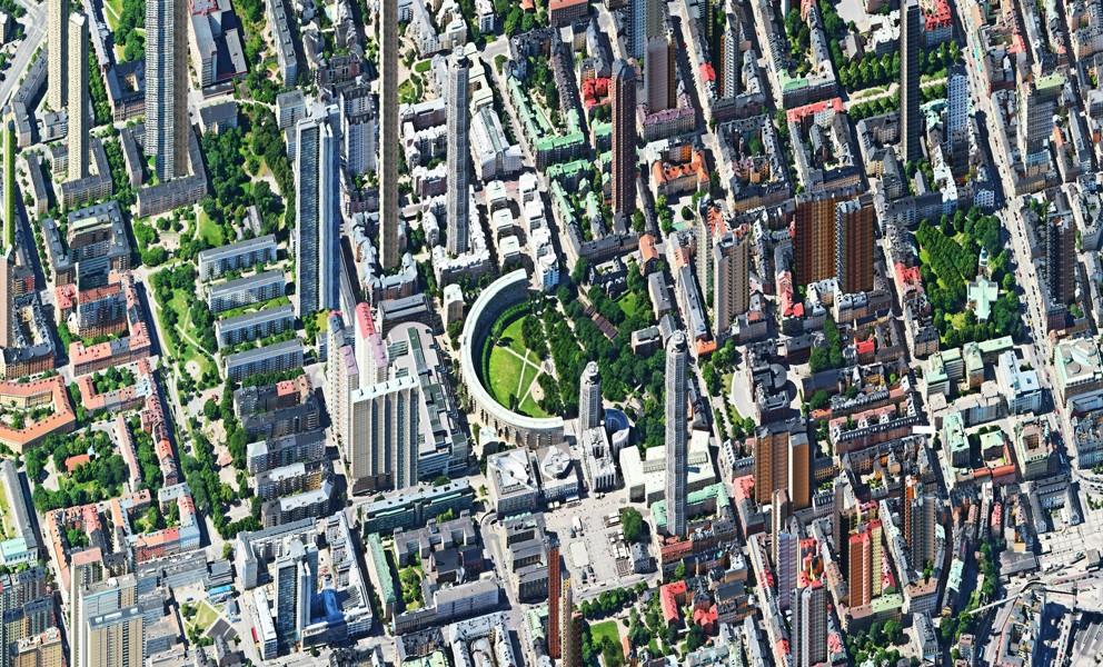 Aerial view – Medborgarplatsen