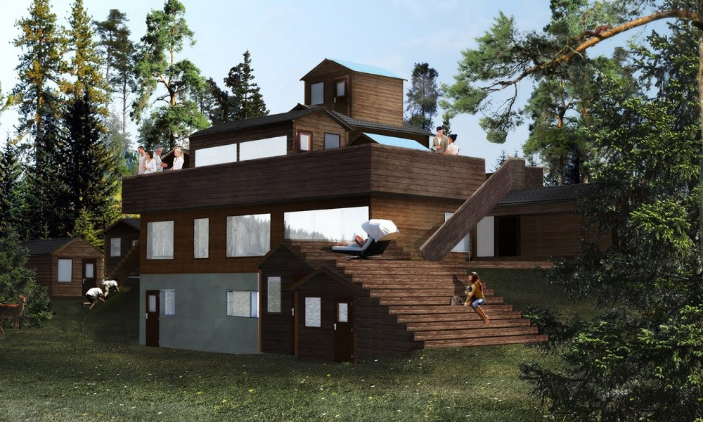 Rendering of the house