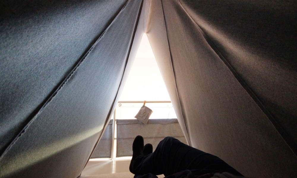 Tipi from the inside