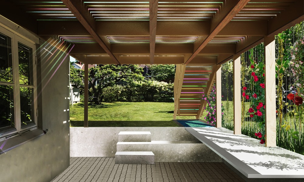 Rendering from underneath the deck