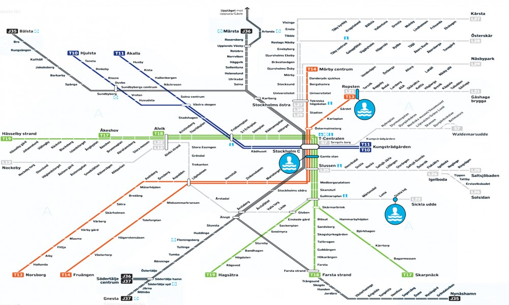 Sweden Subway Map.Sthlm Pools Anders Berensson Architects