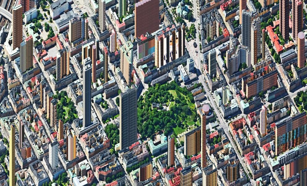 Aerial view – Humlegården