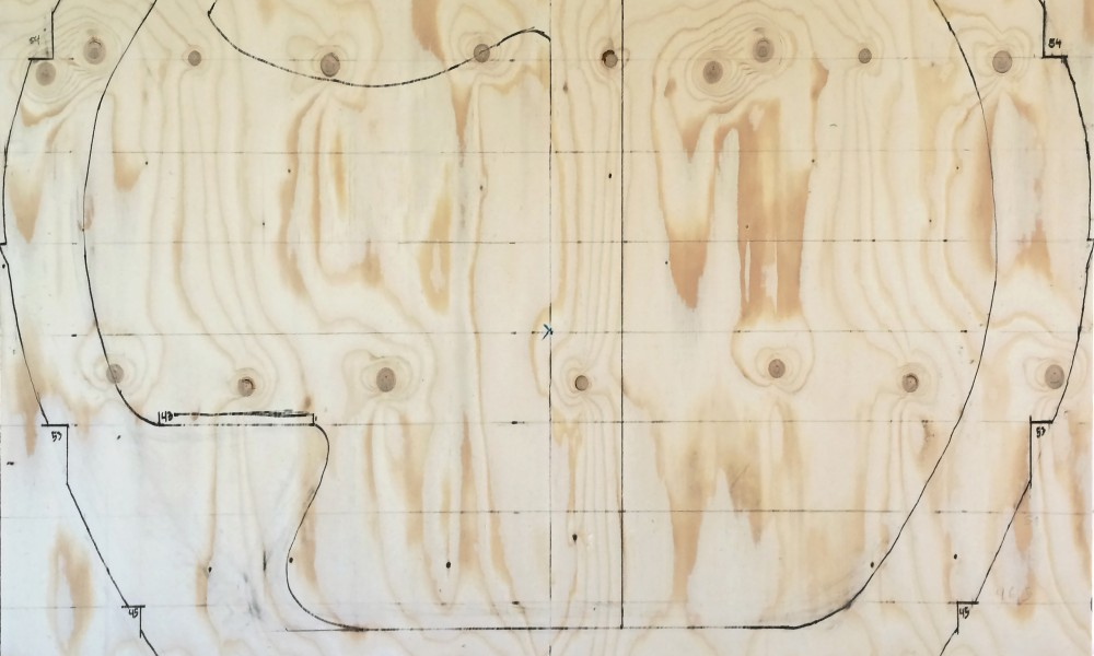 One to one drawing on plywood sheet