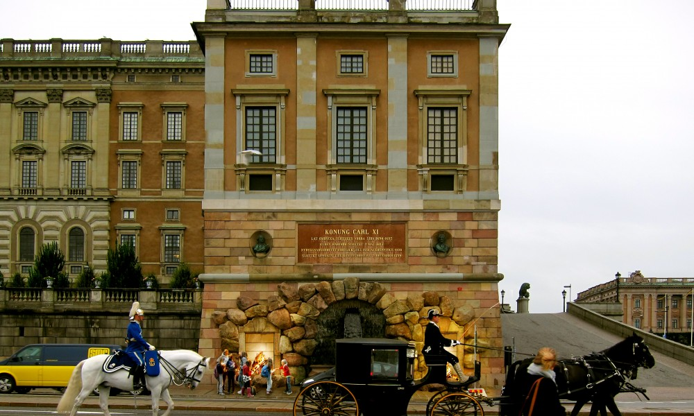 Fireplaces outside the royal castle