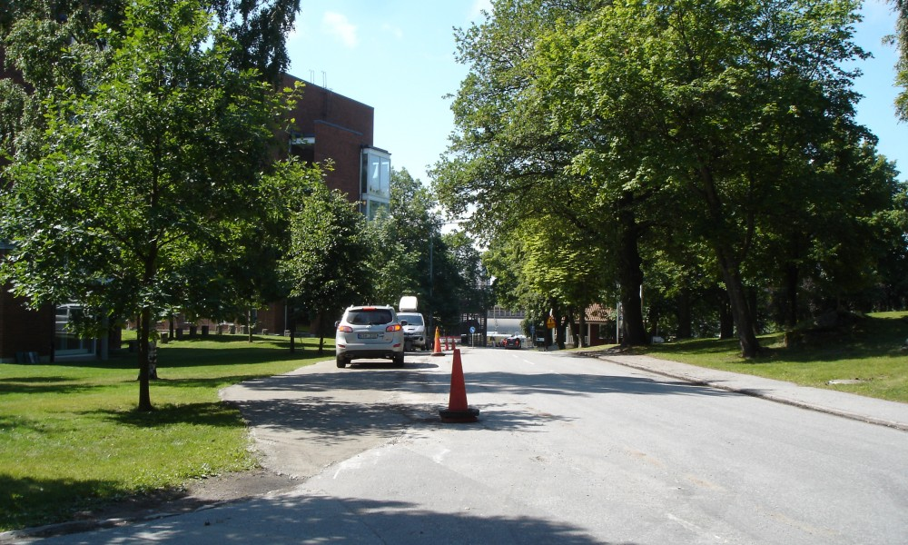 Parking lot #7: Photo taken during construction, now used for construction trucks