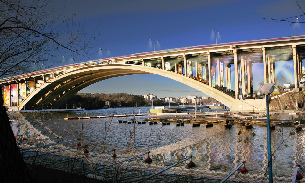 Rendering of bridge