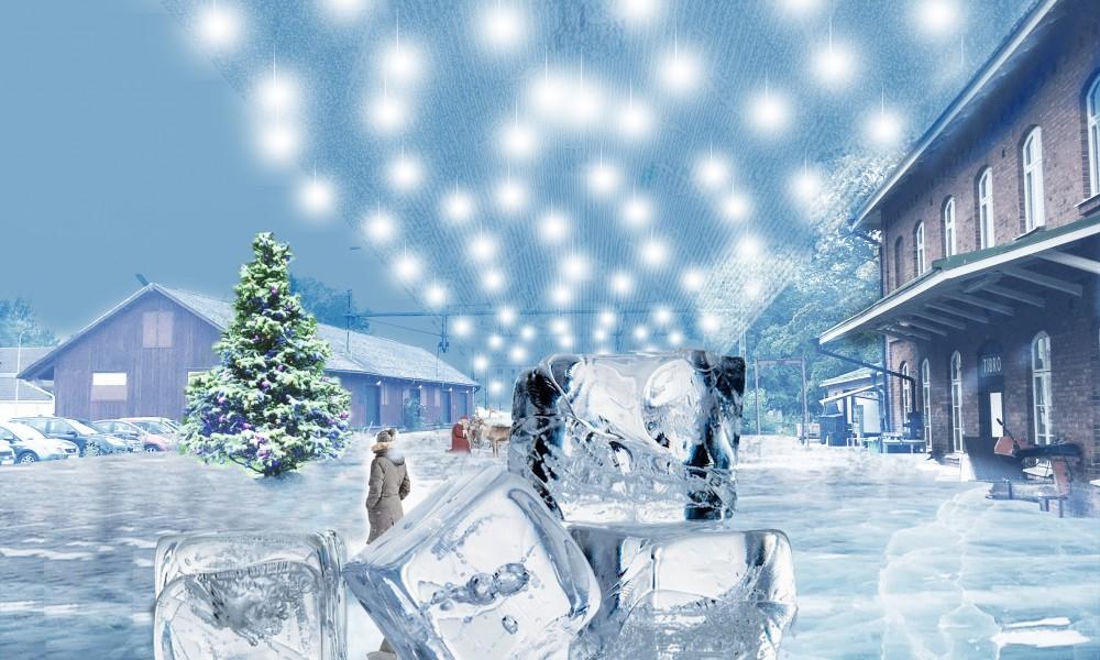 Tibro ice skating Christmas square