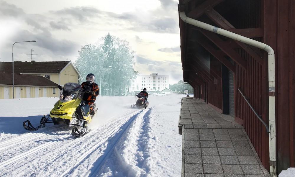 Tibro snow mobile city