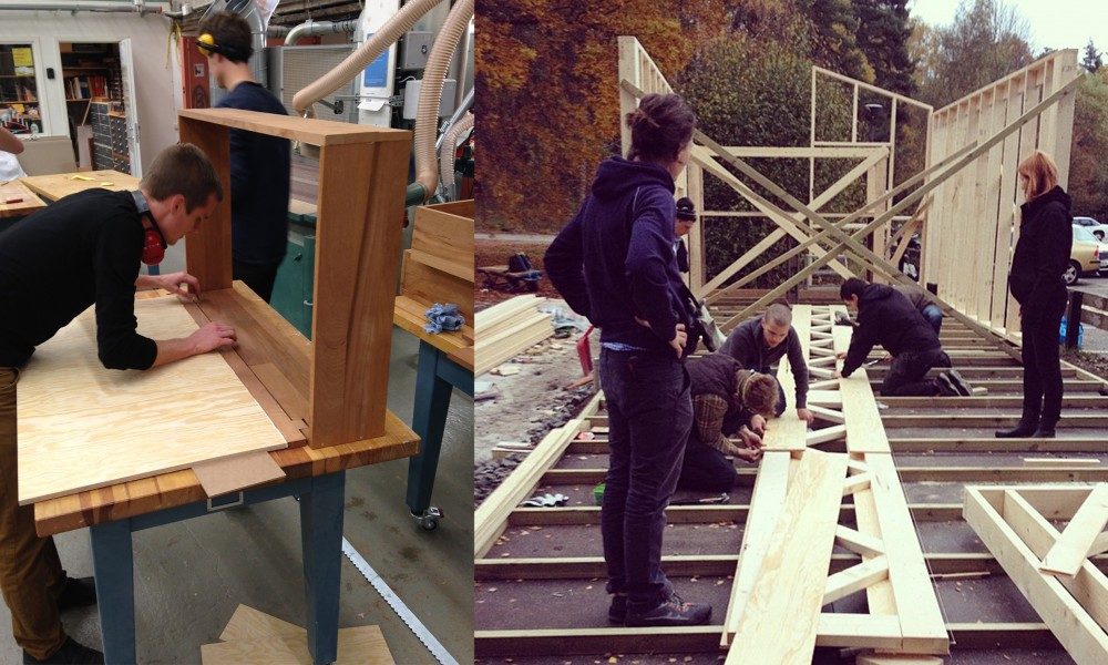 Full Scale Students building the house