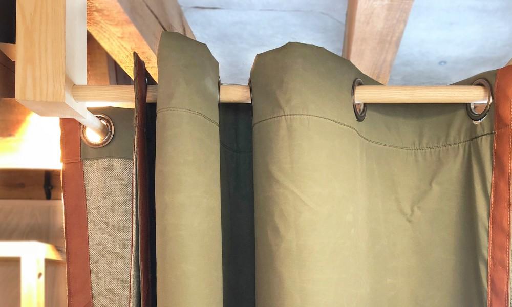 Drapery made of Fjällräven G1000 fabric
