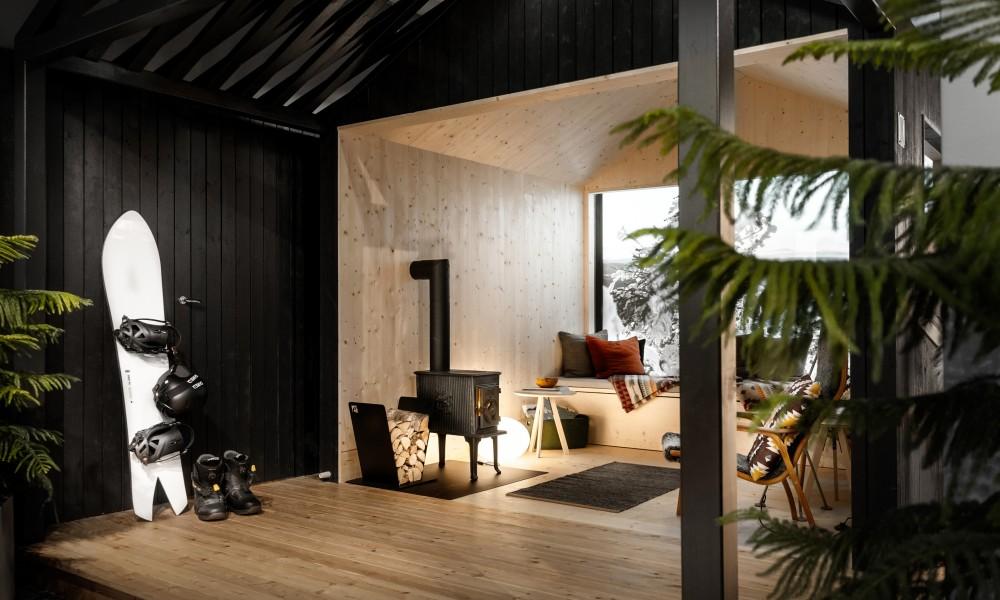 Cabin in Haglöfs store